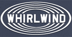 Whirlwind Logo Blue and White