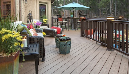 a patio deck